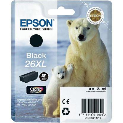 Изображение Картридж Epson 26XL XP600/605/700 black pigment