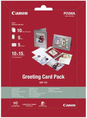 Зображення Набір CANON Greeting Card Pack GCP-101 фотопапір (170гр./м2) 10 арк. + 5 фоторамок + 5 конвертів